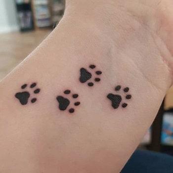 empreinte chien tatouage