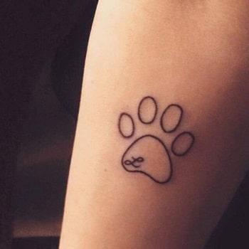 tatouage empreinte chien